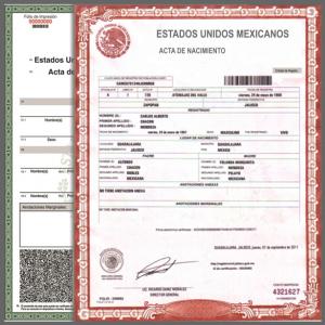 Actas De Nacimiento De Estado De México Edomex Cuautitlán